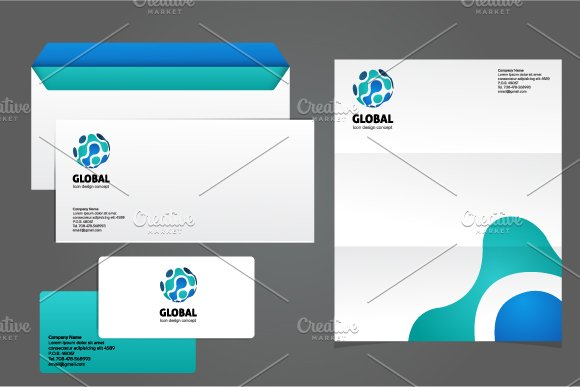 Global Logo Template in Logo Templates - product preview 1