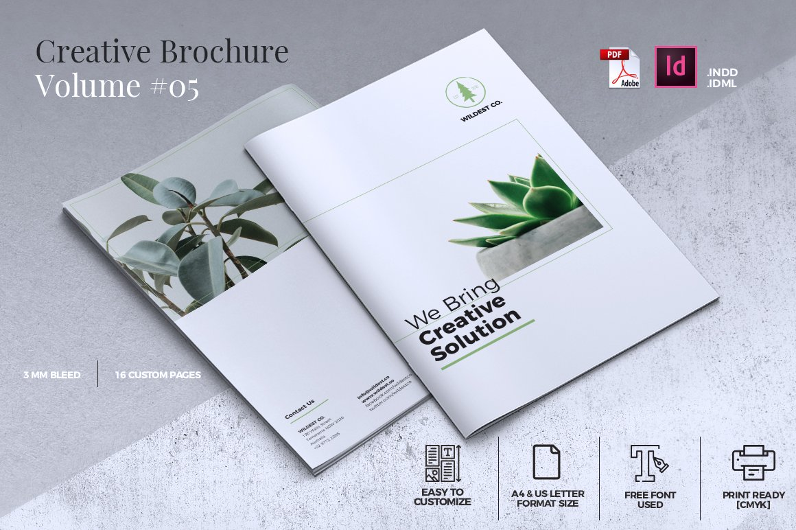 Creative Brochure Template Vol Brochure Templates Creative - Cool brochure templates