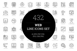 432 Web Line Icons