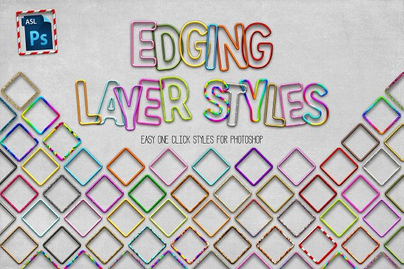 70 Photoshop Edging Styles