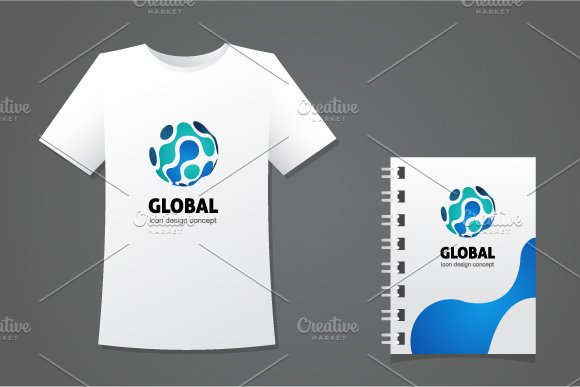 Global Logo Template in Logo Templates - product preview 3