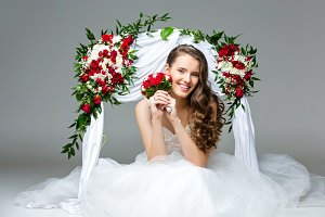Beautiful young bride girl