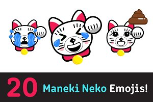 Intro Price - Fortune Cat Emoji Set