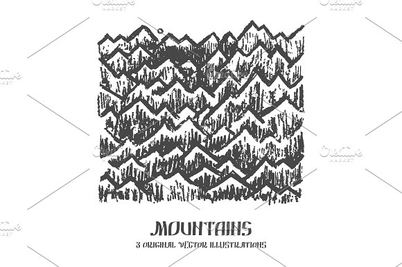 Mountains 3 Vector Illustrations