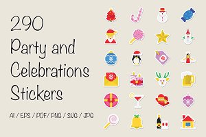 290 Party and Celebration Stickers