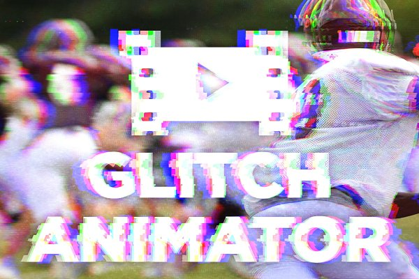 Glitch effect with GIF animation ~ Photoshop Add-Ons ~ Creative Market