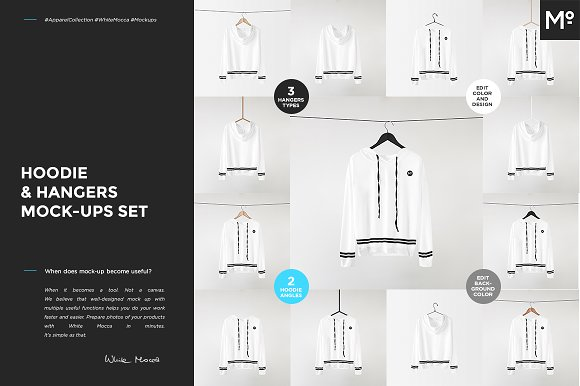 Download Hoodie & Hangers Mock-ups Set