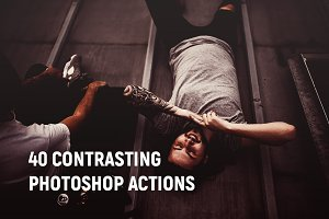 40 Contrasting Photoshop Action
