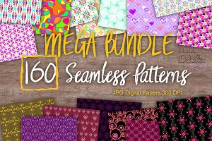 MEGA BUNDLE 160 Seamless Patterns