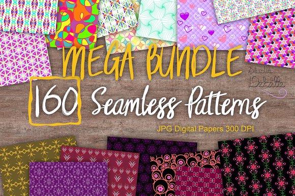 MEGA BUNDLE 160 Seamless Patterns