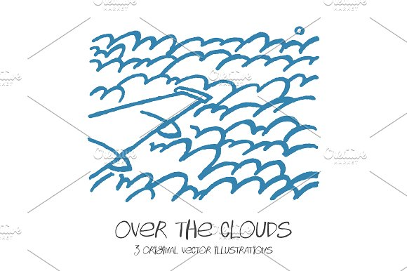 Over The Clouds 3 Illustrations