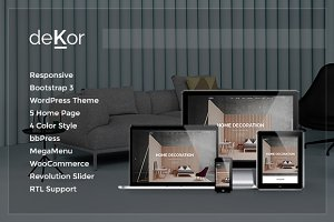 deKor - Interior WordPress Theme