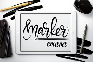 Marker brushes - Procreate
