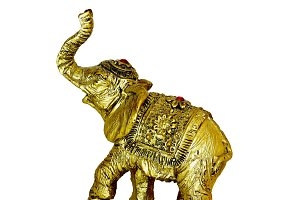 Elephant Gold Figure