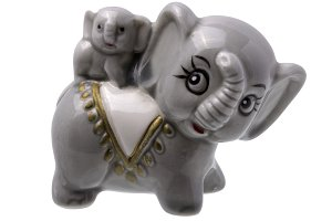 Grey Elephant And Elephant Baby