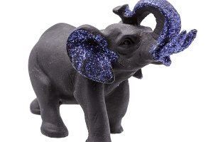 Black Elephant Figurine