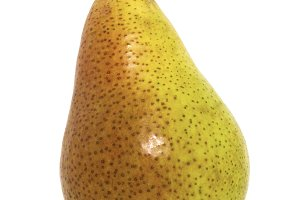 Red-yellow Pear on white Background