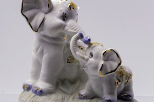 Figurine of Two Elephant