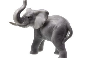 Grey Elephant Figure