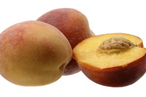 Ripe Peach Fruit With Slices