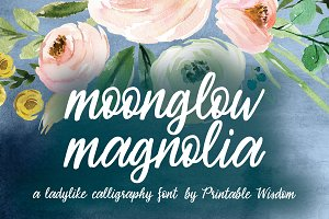 Moonglow Magnolia Font