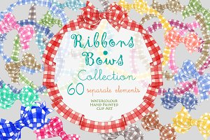Ribbons & Bows clipart Collection
