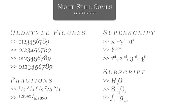 Night Still Comes | a serif font ~ Serif Fonts ~ Creative Market