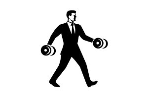 Businessman Power Walking