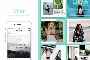 Mint | Instagram + stories templates