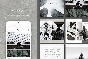 Steve|Instagram templates + stories