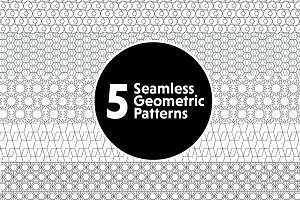 5 Seamless Geometric Patterns
