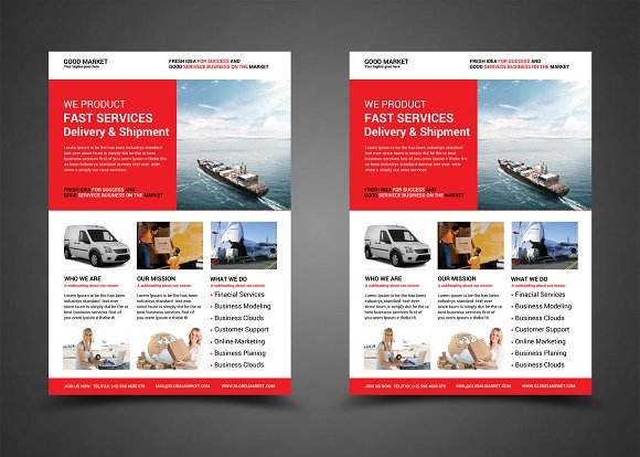 Delivery Shipment Flyer