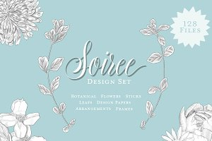 Soiree Botanical Graphic Set
