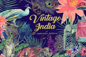 Vintage India 10 patterns (set 3)