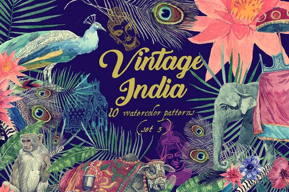 Vintage India 10 Patterns