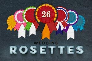 26 Rosettes PNG + Freebie