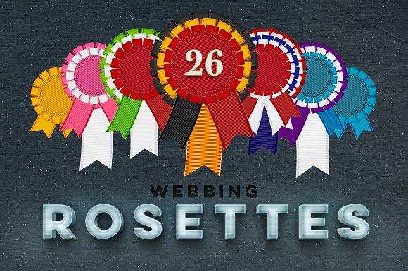 26 Rosettes PNG Freebie