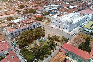 Central square of Leon city