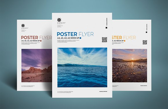 Free Realistic Poster and Flyer mockup