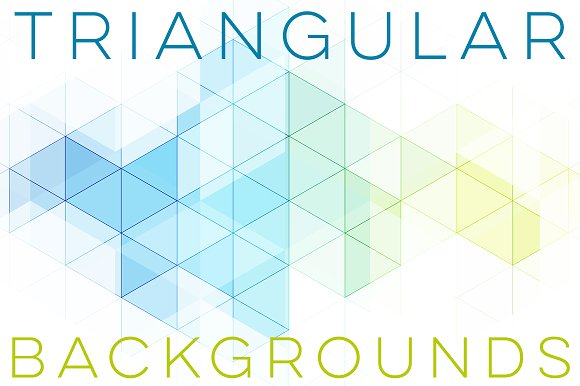 Triangular Geometric Backgrounds