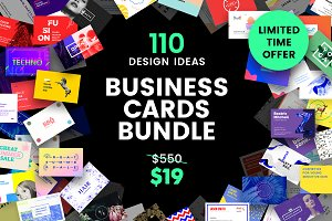110 in 1 Business Card Templates