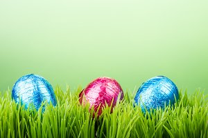 Grass and background with eggs
