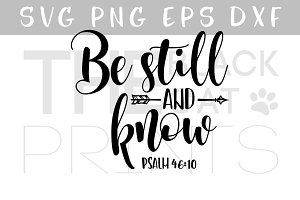 Be still and know Arrow SVG Bible