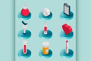 Medical flat isometric set