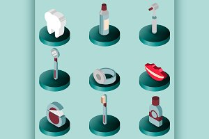 Stomatology flat isometric set
