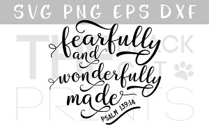 Fearfully and wonderfully made SVG