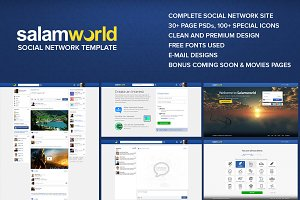 Salam World - Social Network Site