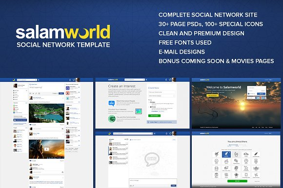 Salam World Social Network Site