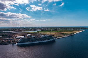 Giant modern cruise liner