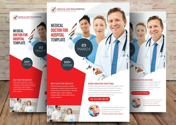 Medical Doctor Flyer Template Flyer Templates Creative Market – Hospital Flyer Template